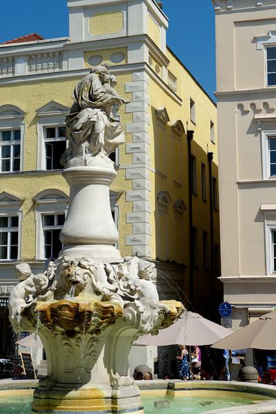 Fountain at Residenzplatz.