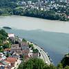 The Danube from Veste Oberhaus.  Austrian border at the upper left.