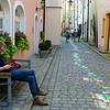 Passau street near the Danube.