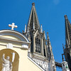 The spires of St. Peter's Cathedral.