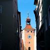 Regensburg Clock Tower entrance to the Stone Bridge.