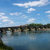 The Old Stone Bridge built 1135-46 across the Danube.