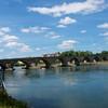 The Old Stone Bridge built 1135-46 across the Danube.