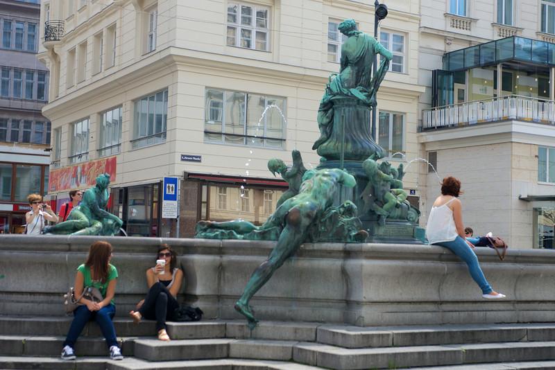 Thunder Fountain (Donnerbrunnen), Vienna, at Neuer Markt.