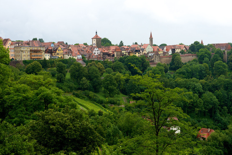Just outside the old town wall in Rothenberg.  Taken from the Burggarten (Castle Garden)