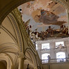 The Treppenhaus fresco by Giovanni Battista Tiepolo above the staircase.  The world's largest ceiling fresco.