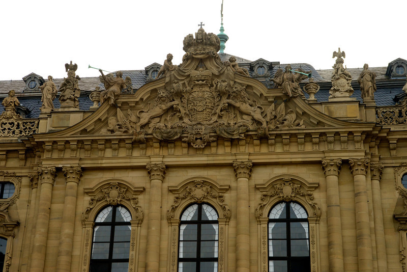 Detail above the center entrance of Würzburg Residenz.