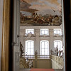 The Treppenhaus fresco by Giovanni Battista Tiepolo and the staircase railing.
