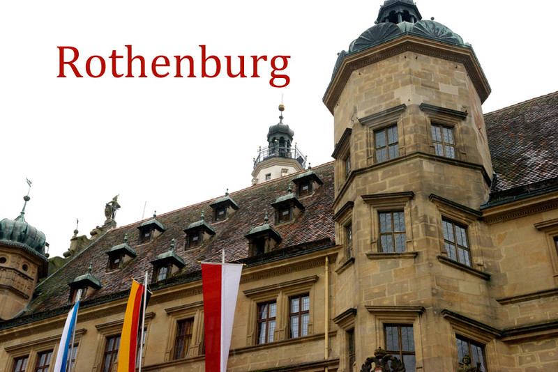 One of the best preserved medieval towns in Europe.  The Rathaus or town hall of Rothenburg. The surviving Gothic section with its tower together with the later Renaissance structure with Baroque arcades provide an interesting mix.
