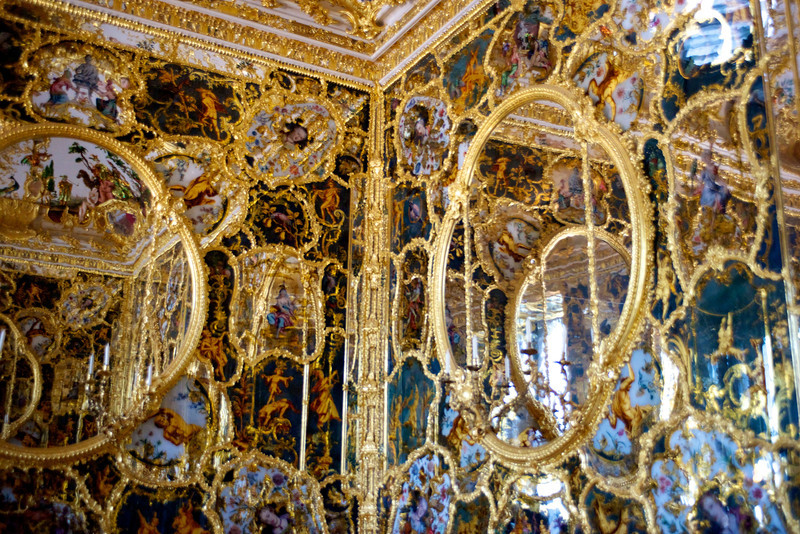 "The ""Mirror Cabinet"" (Spiegelkabinett) Hall at the Residenz."