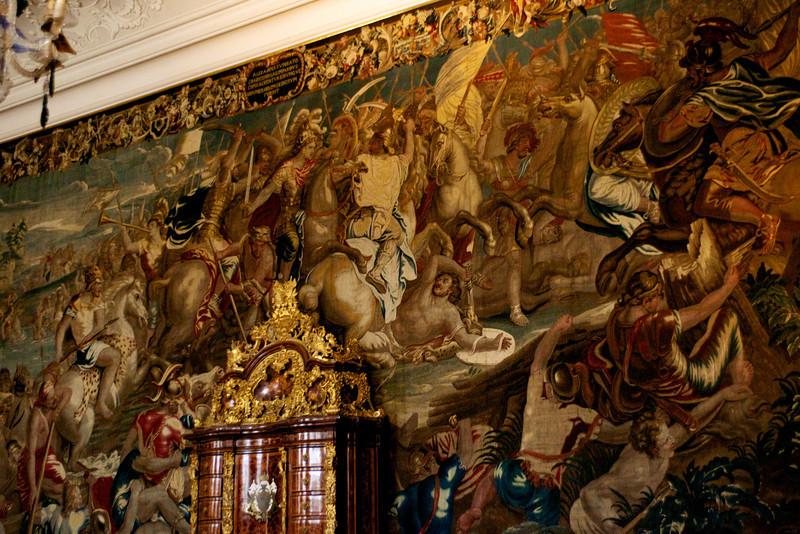 Tapestry in the Venetian Room.
