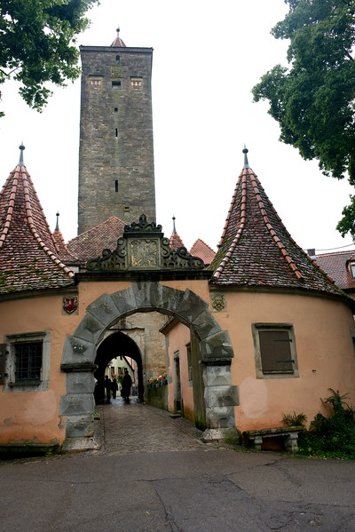 The Burgtor (Castle Gate, circa 1356).  The tallest of the town gates.