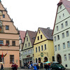 Marktplatz, Rothenburg. The structure on the left with the clock is the Ratsherrentrinkstube (City Councilors' Tavern).