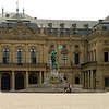 The center-entry and parade square of the Residenz. This Baroque palace was designed by Balthasar Nuemann and was completed in 1780.