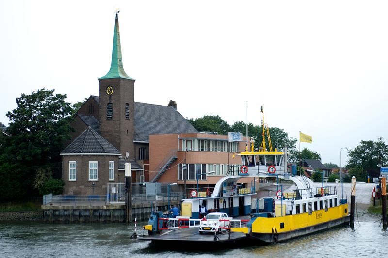 The town ferry readies for a journey across the Rhine.