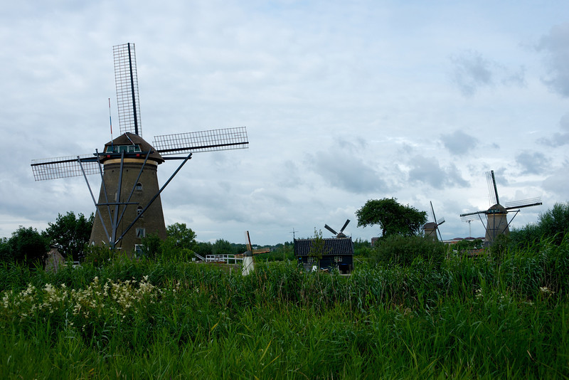 Each windmill has a slightly different look.