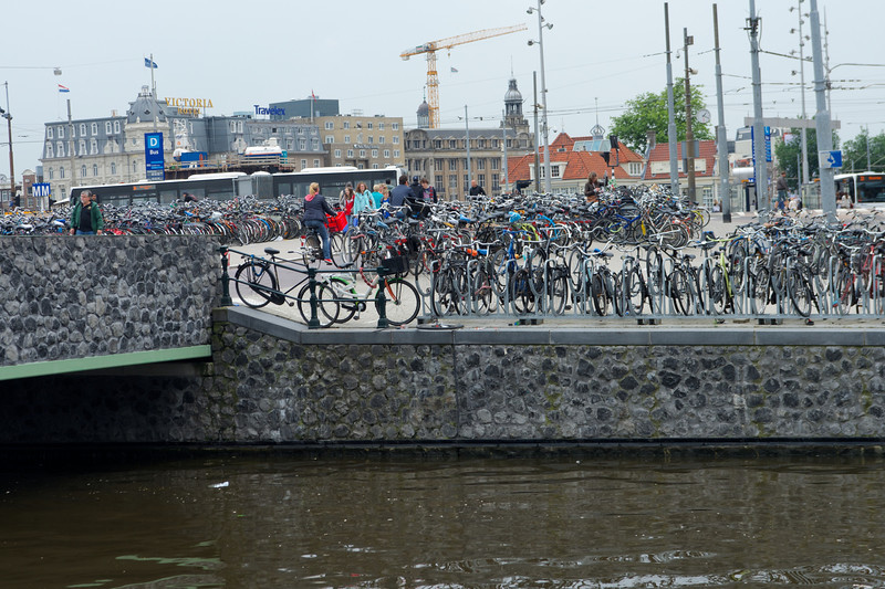 Bicycle parking in Amsterdam.