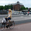 A Dutch bicycle rider mid-day.