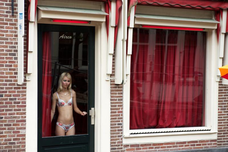 Lingerie store model.