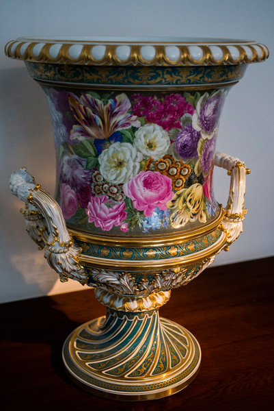Colorful porcelain vase.