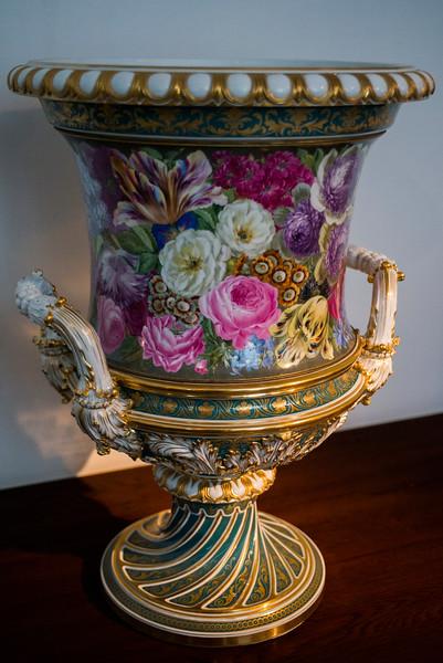 Colorful porcelain vase.