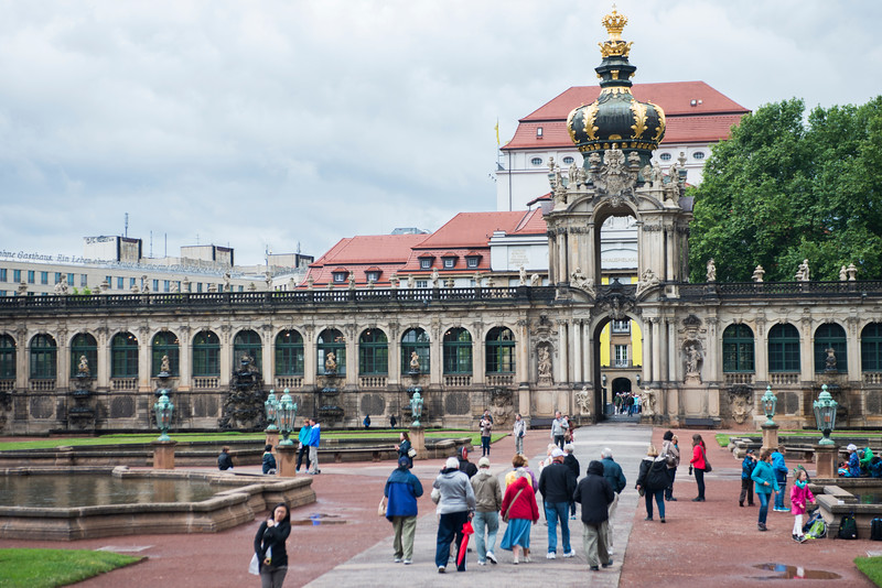 Main Entrance of the Zwinger, Dresden.  Kronentor (Crown Gate)