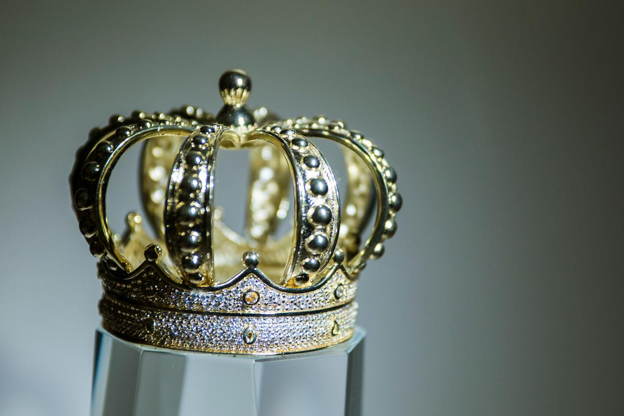 Jeweled porcelain crown.
