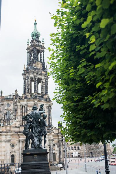 Hofkirche, Dresden. The Catholic Church of the Royal Court of Saxony.