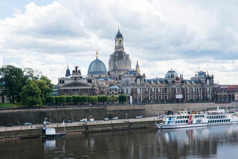 Dresden town from the Elbe.