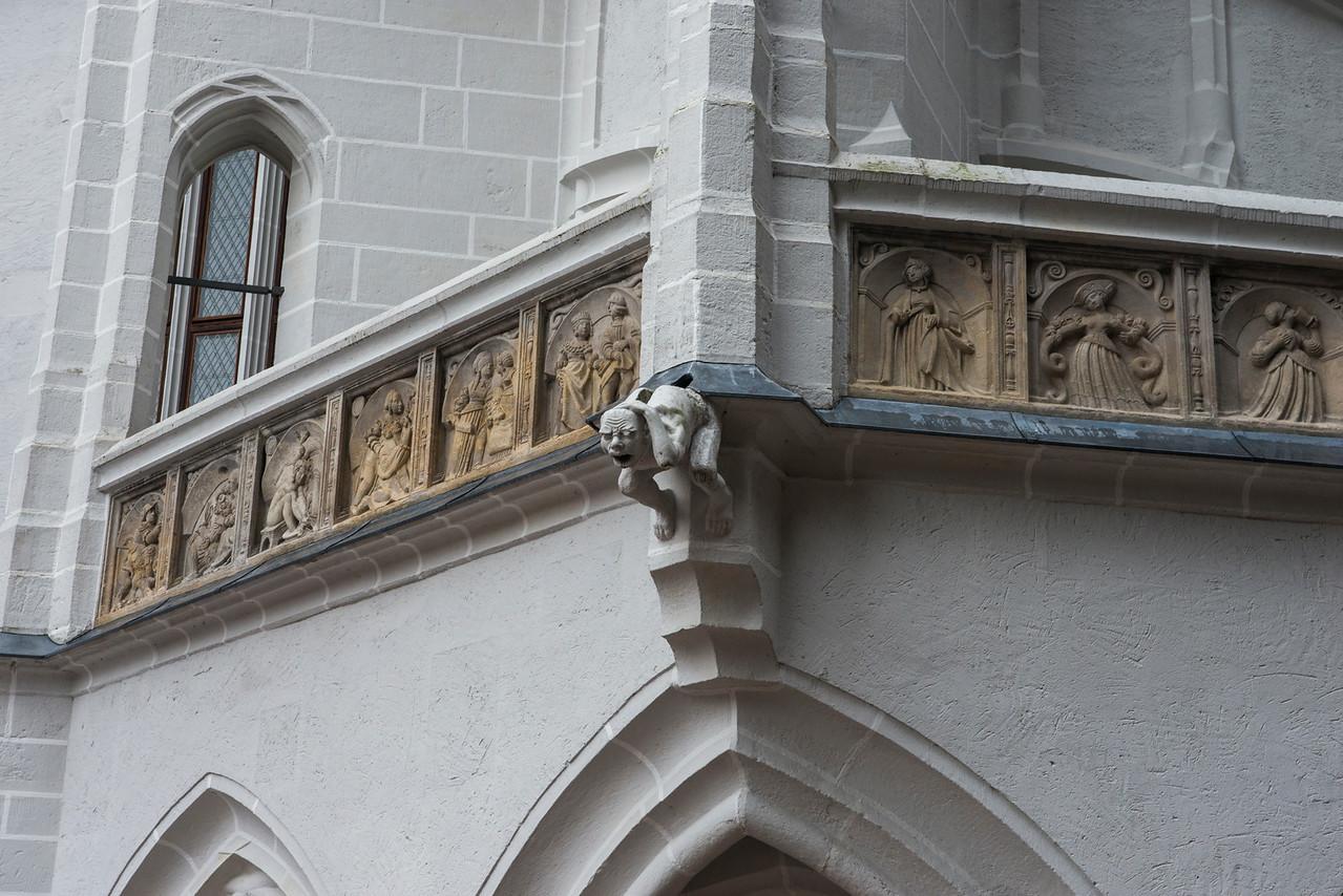 Meissen tower detail with gargoyle.