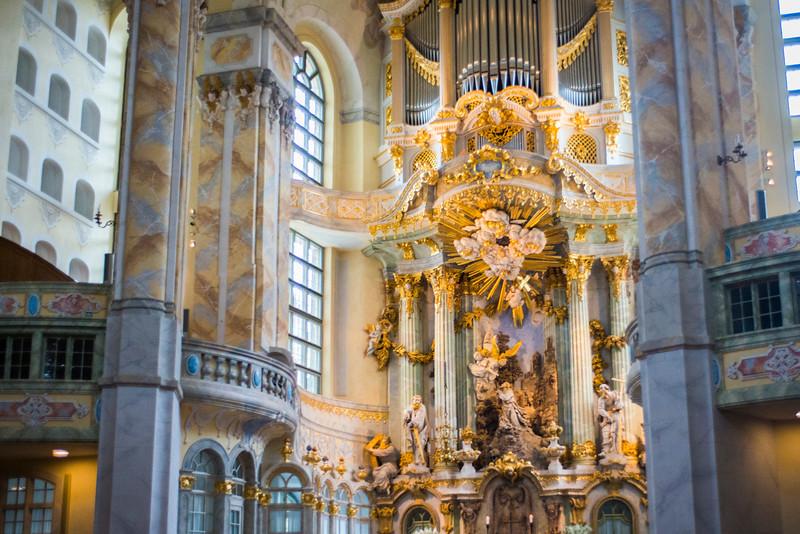 Frauenkirche, Dresden, interior (no photos allowed).