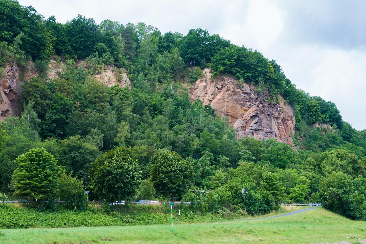 Saxony's sandstone cliffs outside of Meissen.