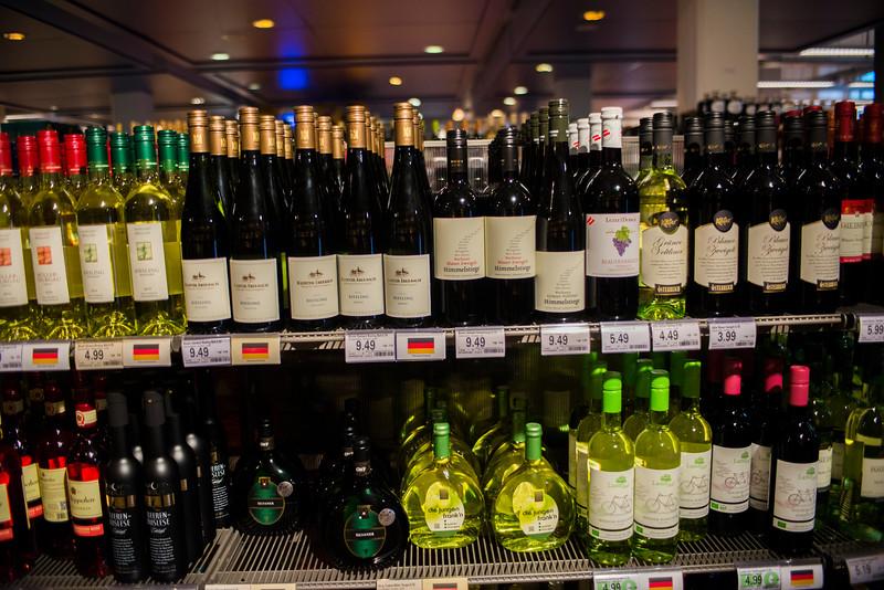 Generally German wines sold.