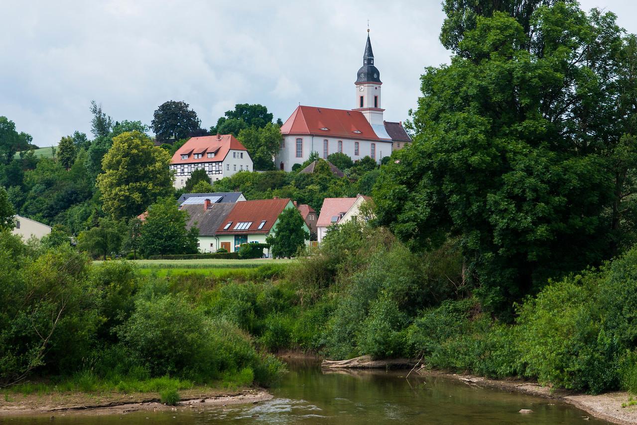 Saxon church along the Elbe.