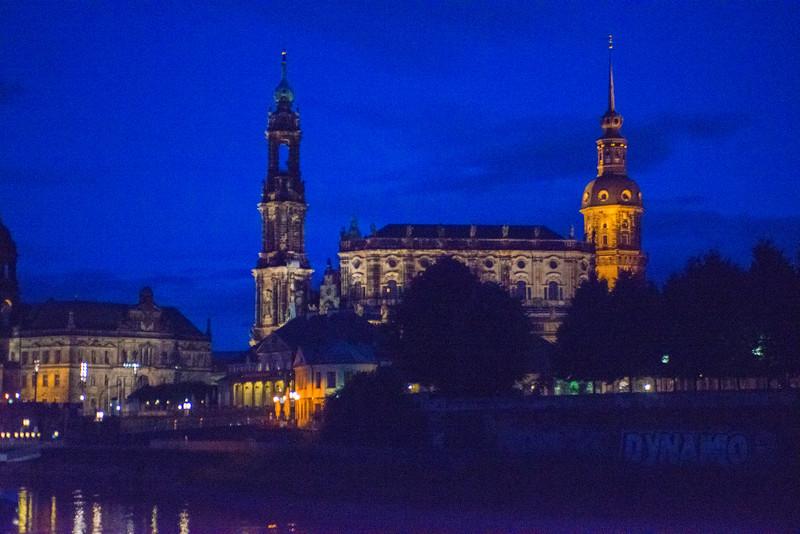 Sailing into Dresden.