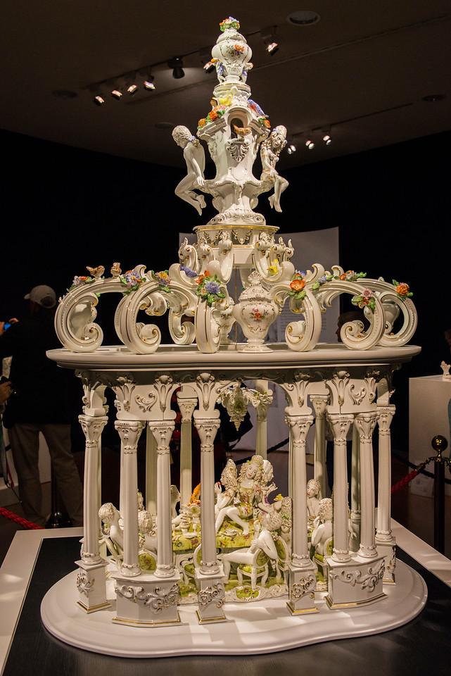 Meissen Porcelain display.