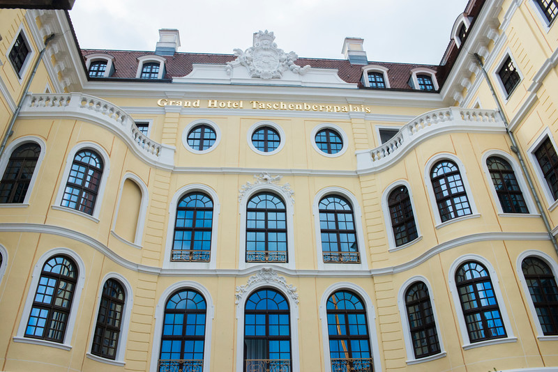 The Taschenbergpalais was originally built from 1705 to 1708 as a palace for Countess Anna Constanze von Hoym. It was destroyed in 1945 and rebuilt from 1992-95. Today it is a Kempinski 5-star property.