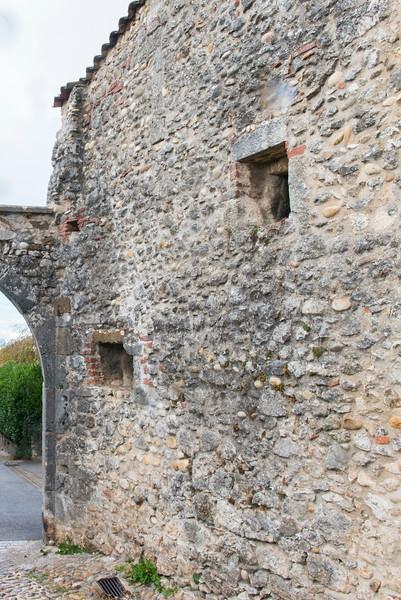 City of Pérouges, France, main church wall.