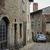 City of Pérouges, France, with narrow passageways.