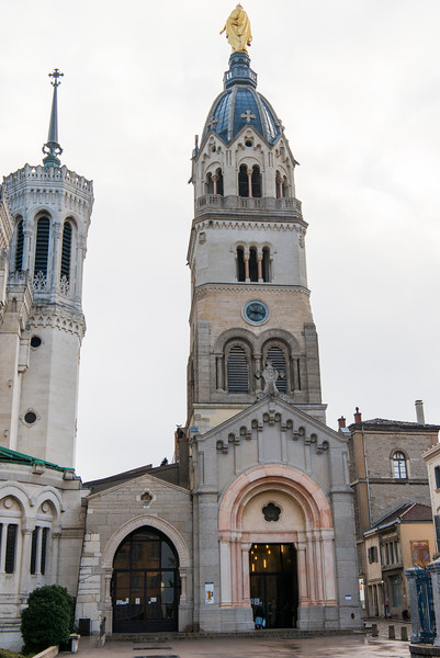 The Chapel of the Virgin sits beside La Basilique Notre Dame de Fourvière