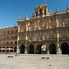 The majestic city hall in the Plaza Mayor in Salamanca, Spain.
