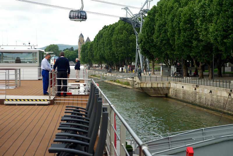 Nice city park adjacent to our Koblenz dock.