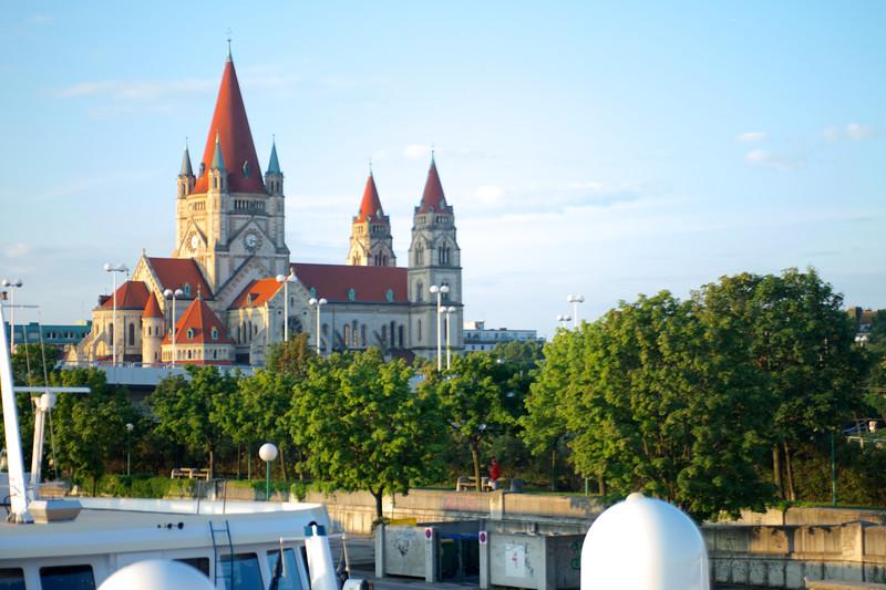 Docking in Vienna, Austria, near Mexicoplatz.
