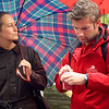 Program manager Daniel trying to assist our local guide in Cologne, Germany.