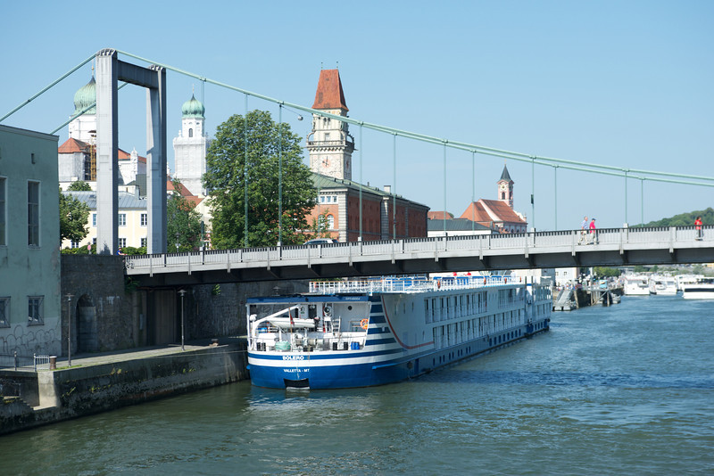 The Viking Bolero was put in Viking's fleet this year (2012) and was built in 2004.  It's docked here in Passau.