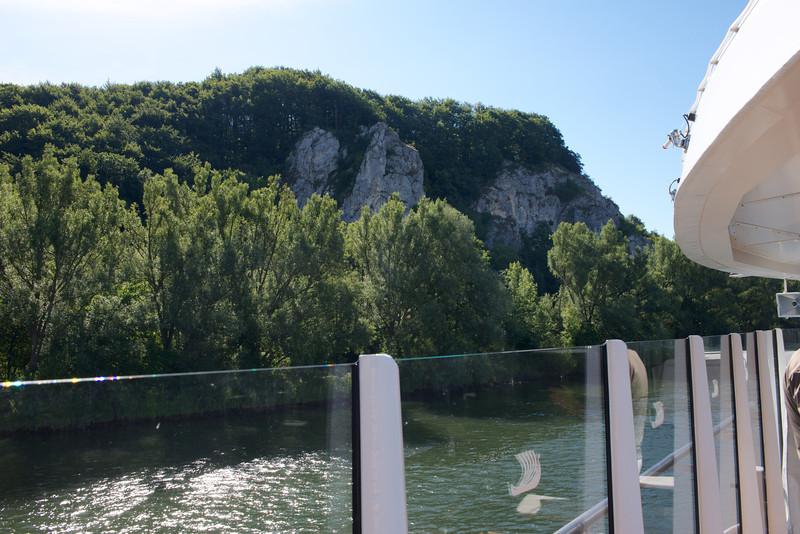 Danube Gorge where the Main-Danube Canal meets the Danube.