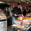 Vienne street marche (market). Cochon (pig) stand.