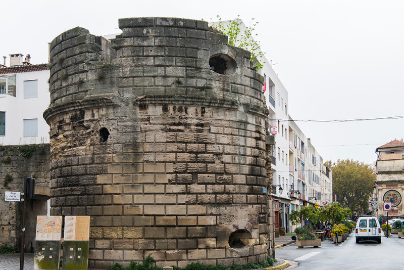 Rue Voltaire, Arles.  City wall.