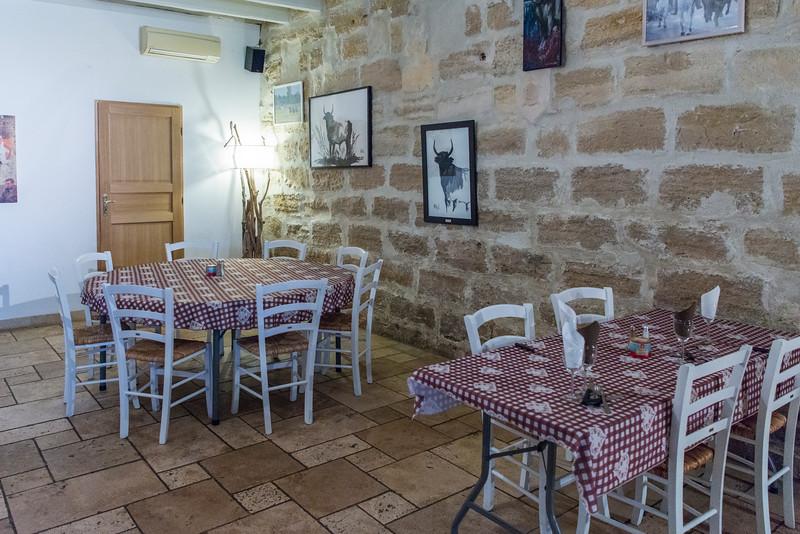 Dining room at Lou Souleu, a Promenade A Cheval in Camargue.
