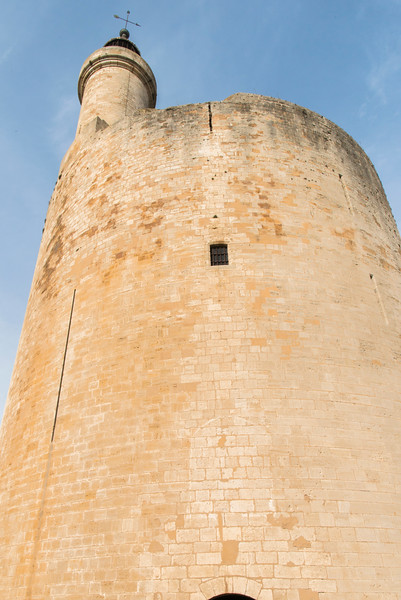 Aigues-Mortes is about 33 km (21 miles) southwest of Nîmes. The Tower of Constance was built in 1242 by Saint-Louis.